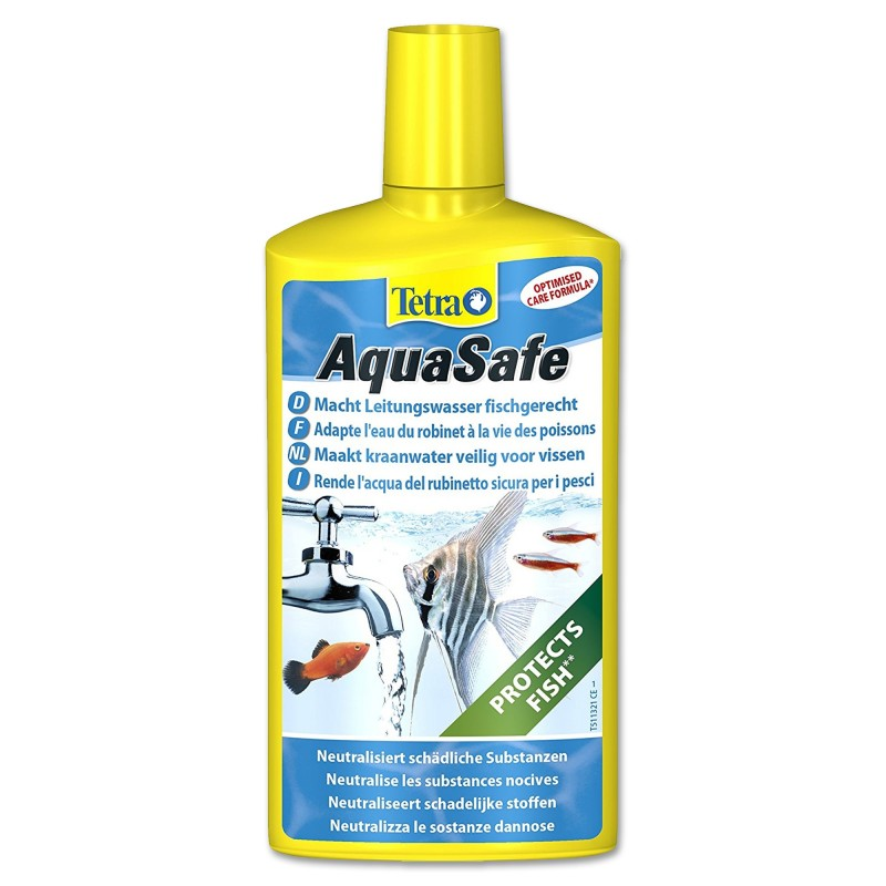 Tetra AquaSafe 100 ml biocondizionatore per acquario rende l'acqua del rubinetto sicura per i pesci