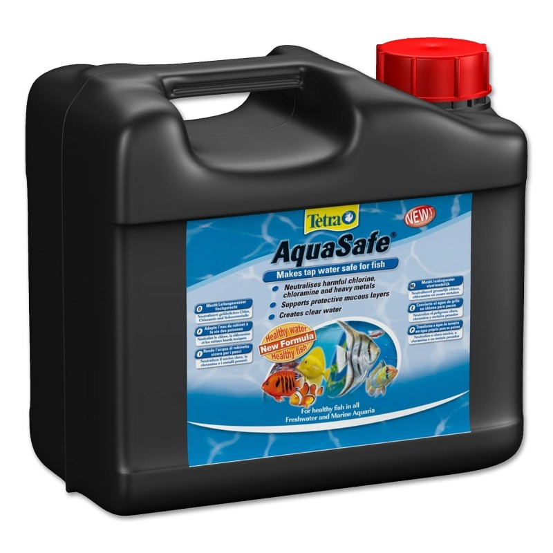 Tetra AquaSafe 5 Lt  biocondizionatore per acquario rende l'acqua del rubinetto sicura per i pesci