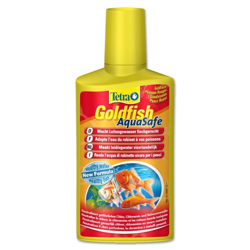 Tetra Goldfish AquaSafe 250 ml Biocodizionatore d'acquario per pesci rossi rende sicura l'acqua di rubinetto