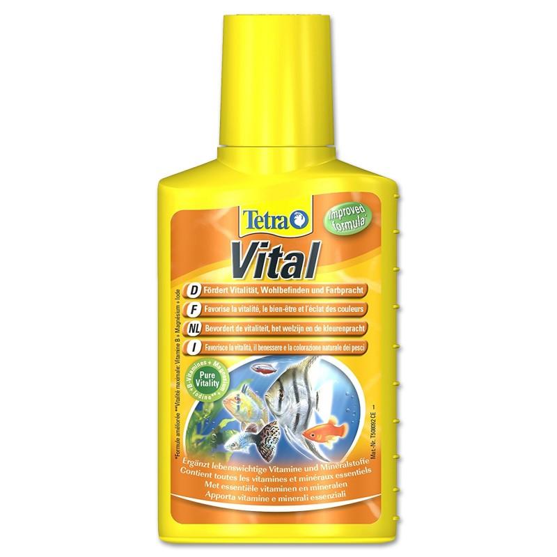 Tetra Vital 100 ml Favorisce la vitalità il benessere e la colorazione naturale dei pesci in acquario