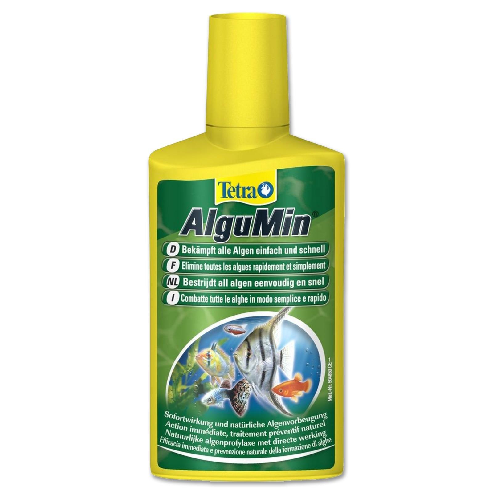 Tetra AlguMin 100 ml Trattamento antialghe biologico in acquario non crea problemi a pesci e piante