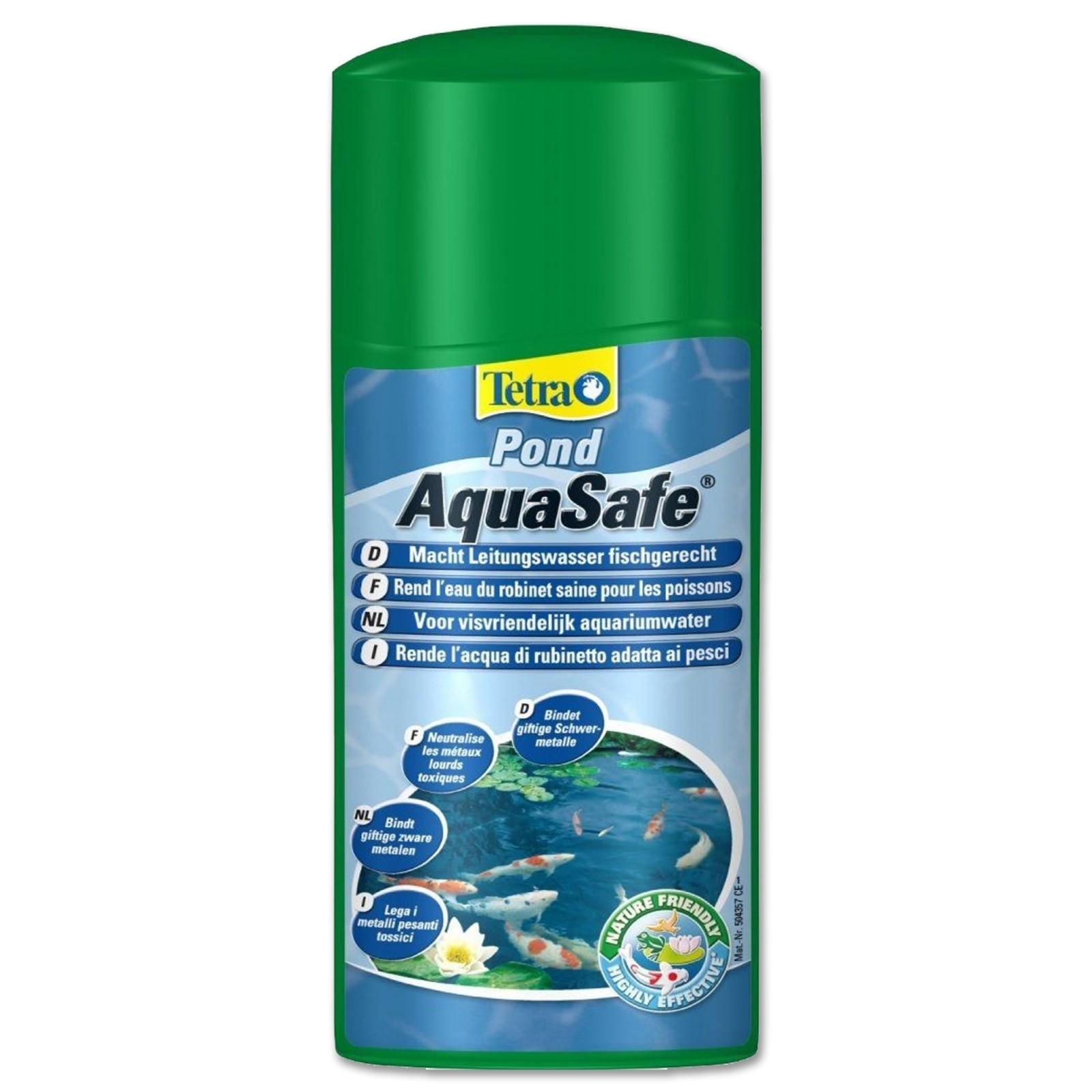 Tetra Pond AquaSafe 250 ml Biocondizionatore per laghetti elimina metalli pesanti cloro zinco e piombo