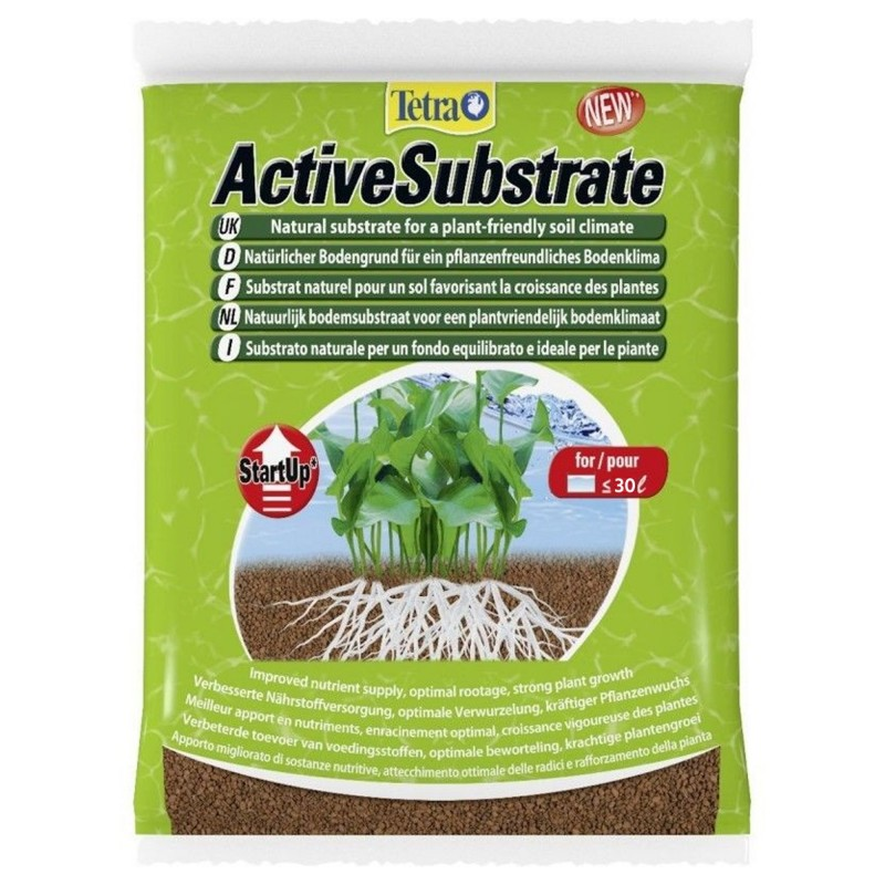 Tetra ActiveSubstrate 3 L Substrato naturale per un fondo in acquario favorisce la crescita delle radici per le piante