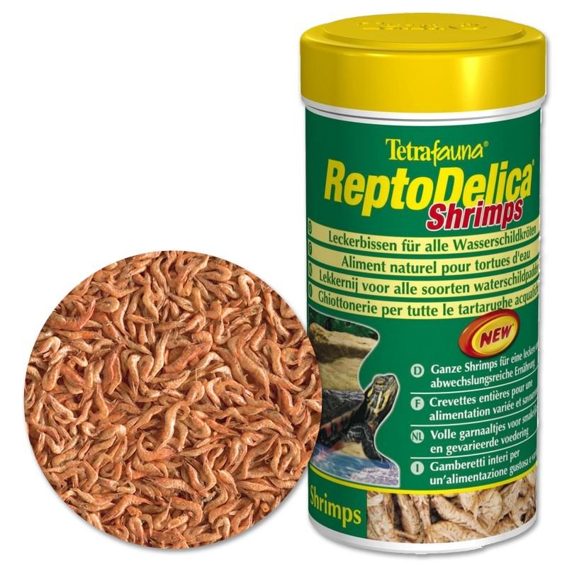 Tetra ReptoDelica Shrimps 1 Lt Mangime gamberi interi per tartarughe d'acqua