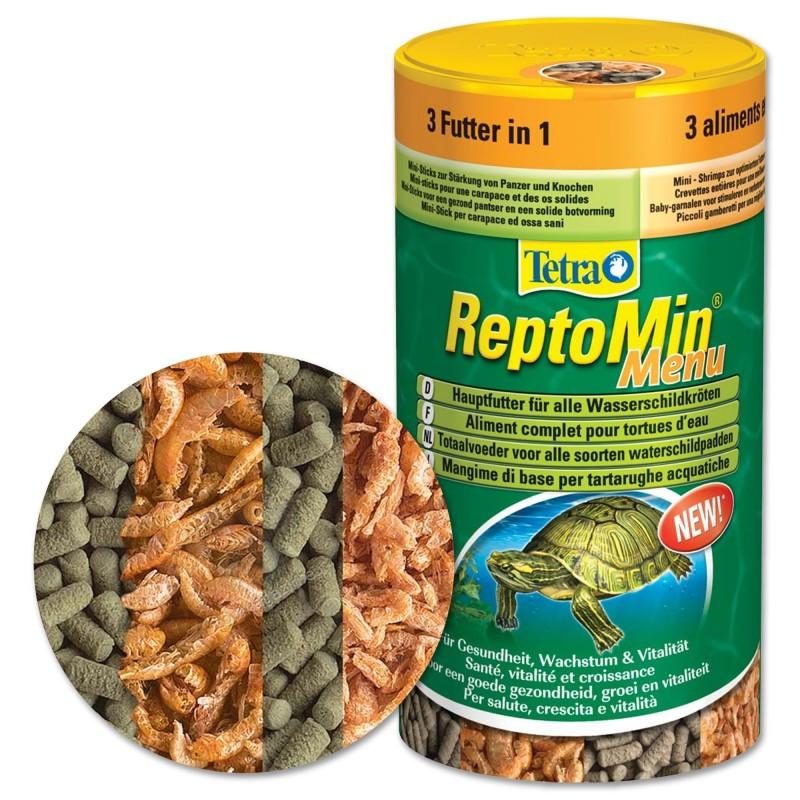 Tetra reptomin menu 250 ml mangime mix per tutte le for Mangime tartarughe acqua