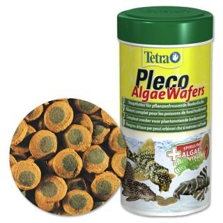 Tetra Pleco Algae Wafers 250 ml Mangime specifico per pesci da fondo erbivori d'acquario con omega 3