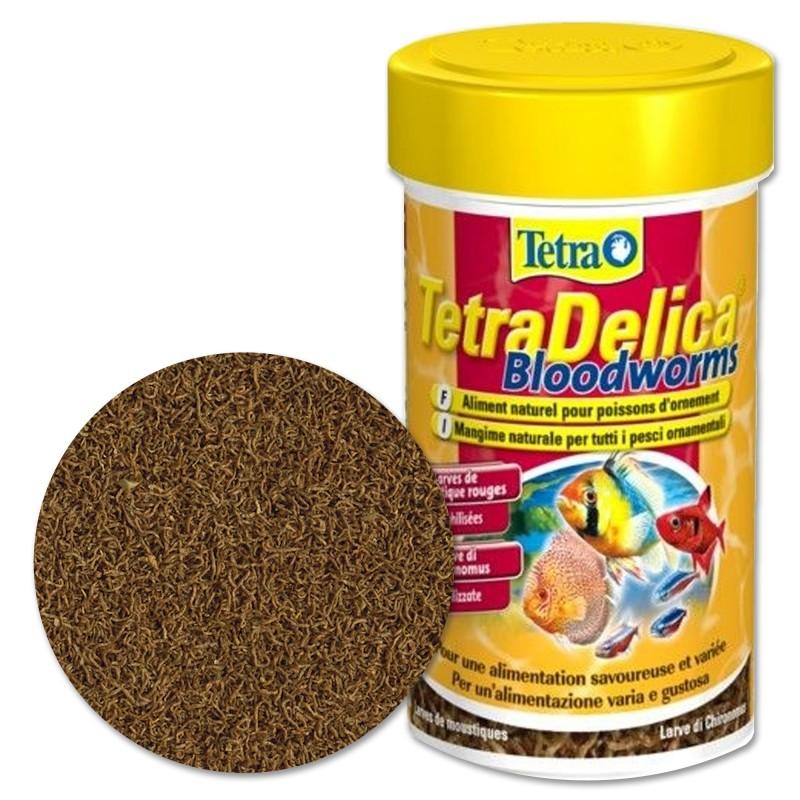 Tetra Delica Chironomus 100% 100 ml Larve rosse di zanzara mangime per pesci d'acquario
