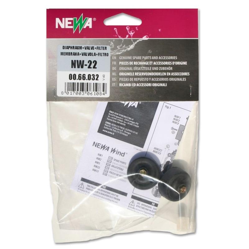 Newa Ricambio Areatore Newa Wind NW 22 Membrane e Valvole