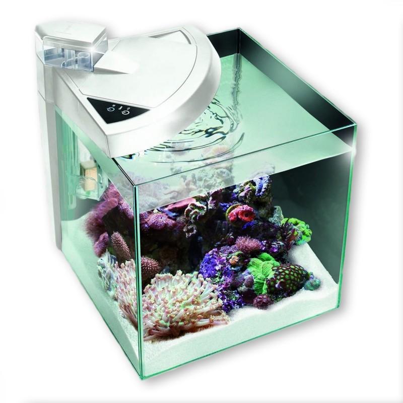 Newa More 30 Reef Marino Bianco Acquario Completo di Illuminazione a Led e Skimmer 28Lt