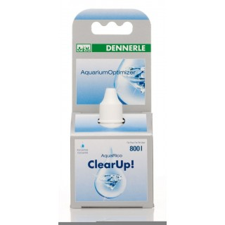 Dennerle 1694 ClearUp 25 ml biocondizionatore per acquario cristallizante per 800 lt