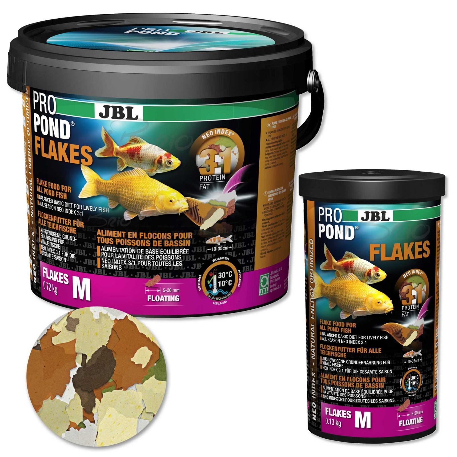 JBL ProPond Flakes mangime per pesci da giardino laghetto e carpe koi completo in fiocchi
