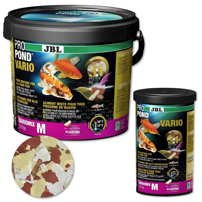 JBL ProPond Vario mangime per pesci da laghetto carpe koi e pesci rossi in fiocchi e sticks