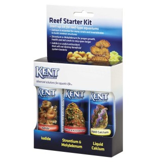 Kent Reef Starter Kit contiene Liquid Calcium, Strontium & Mobildenum, Iodide integratori essenziali per acquario marino