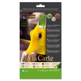 Aquarium Systems A la Carte Floating Green Seaweed 15g Alghe Verdi mangime per pesci d'acquario
