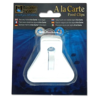 Aquarium Systems A la Carte Food Clips Pinza a clip per mangime di alghe ai pesci in acquario