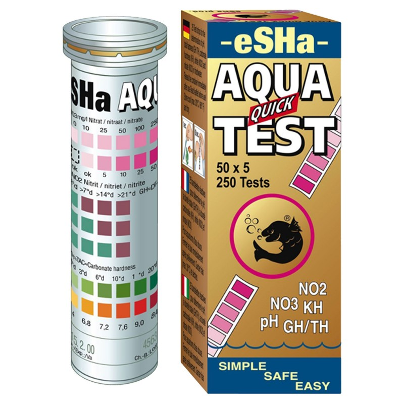 Esha Quick Test 6 in 1 per misurare nitriti nitrati durezza ph in strisce