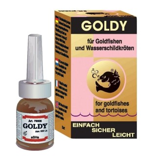 Esha Goldy 10 ml protegge e cura malattie di pelle e branchie per pesci rossi e tartarughe