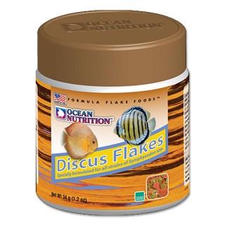 Ocean Nutrition Discus Flakes Alimentazione Premium per Discus 34gr Mangime arricchito per pesci d'acquario
