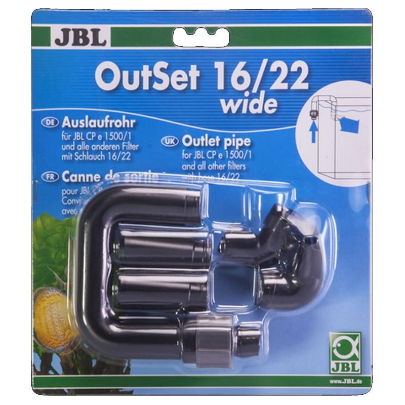 JBL OutSet 16/22 Wide Set Di Mandata Per Tubi 16/22 per acquario