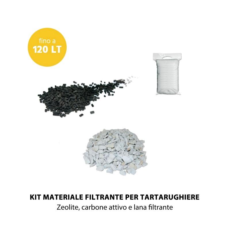 MTB Kit Materiale Filtrante meccanico e chimico per tartarughiere