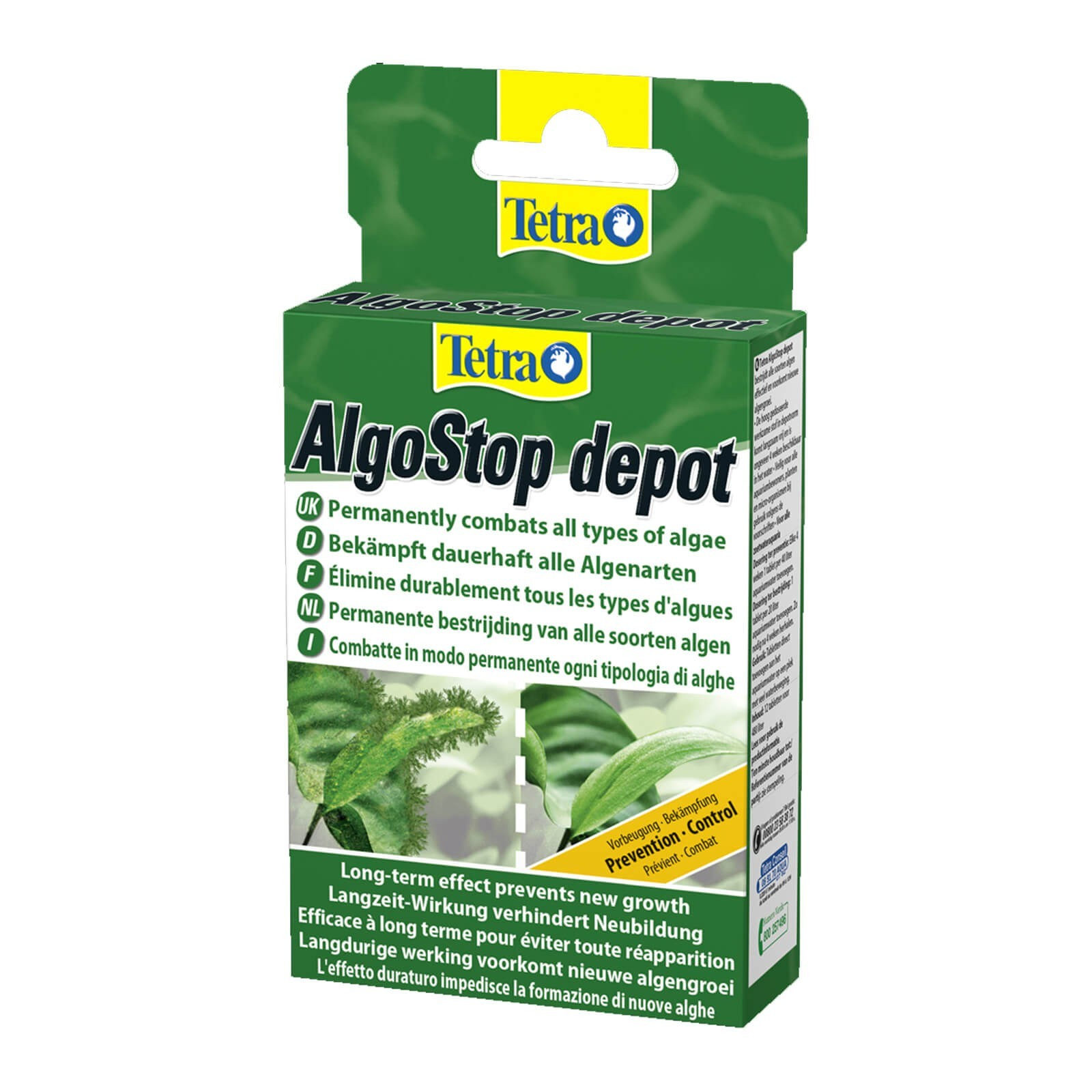 Tetra AlgoStop depot pastiglie per azione contro le alghe filamentose e a pennello in acquario