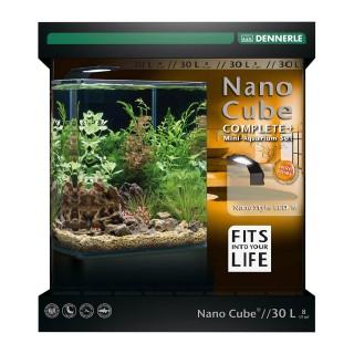 Dennerle Nano cube complete + style LED M acquario da 30 litri