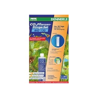 Dennerle 3009 BIO 120 Fertilizzazione biologica con CO2 per acquari da 80 cm (max 120 l) Con gel di controllo e Mini Topper