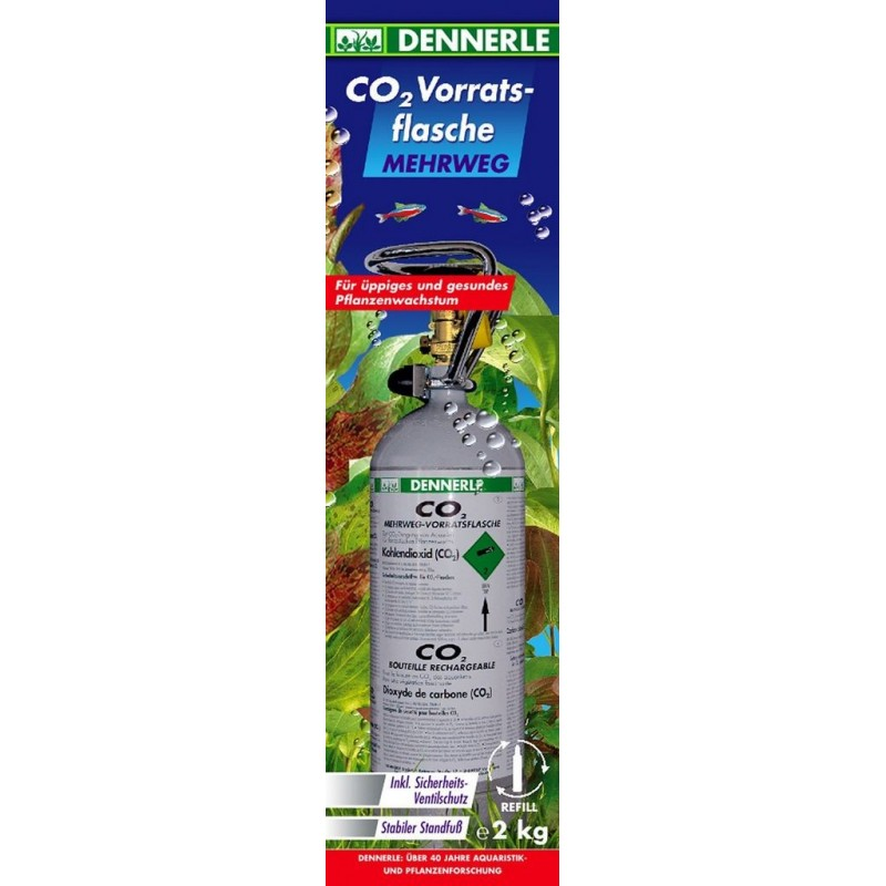 Dennerle 3048 Classic Line Co2 Bombola Ricaricabile 2000 gr anidride carbonica per acquario