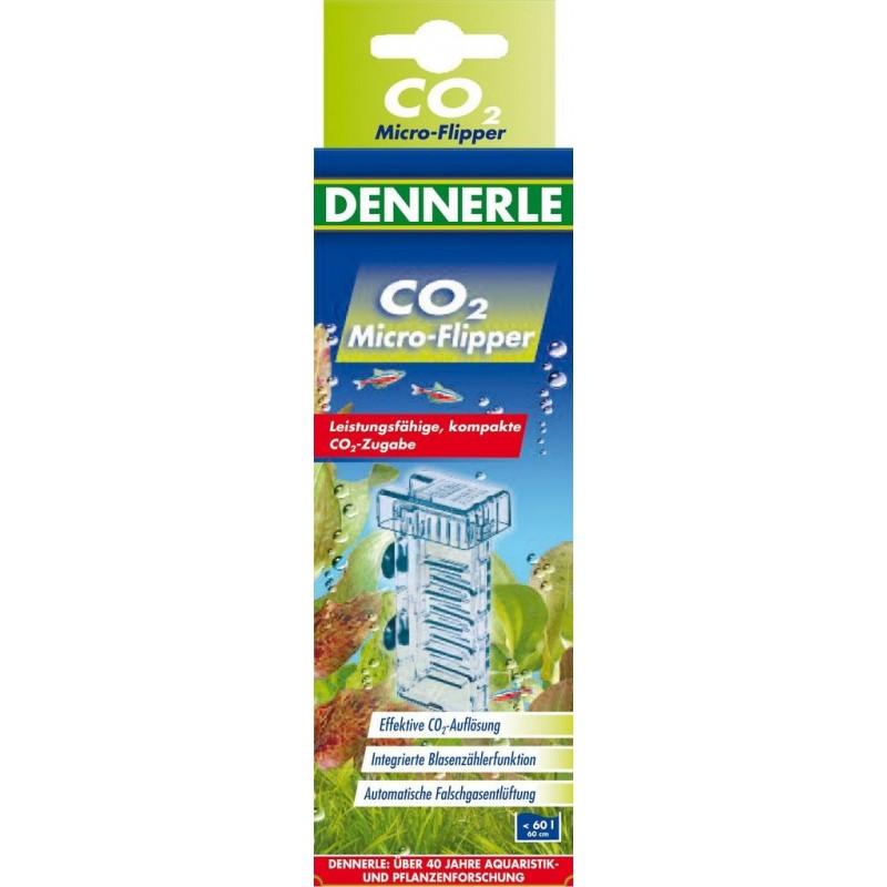 Dennerle 3075 Profi-Line Micro Flipper dispositivo di alimentazione di CO2 compatto per acquari da 40 a 80 litri