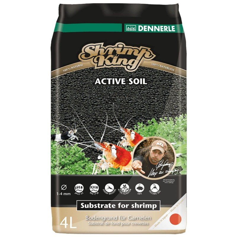 Dennerle 4580 Scraper's Soil 4 Litri Fondo attivo per acquari