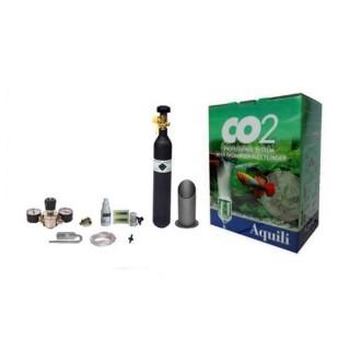 Aquili Impianto CO2 completo con manometri e bombola