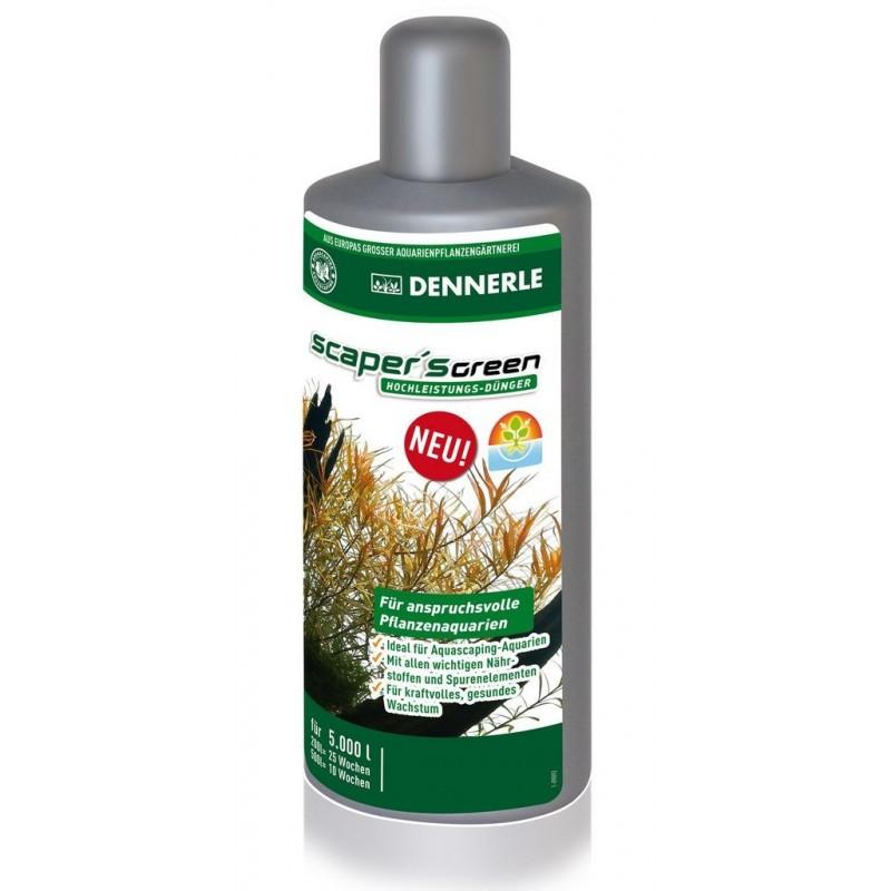 Dennerle 4532 Scaper's Green 500 ml fertilizzante completo per acquari con piante particolarmente esigenti