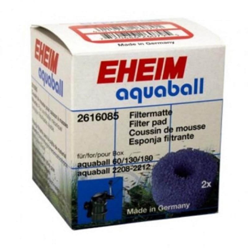 Eheim 2616085 Ricambio Spugna Maglie Larghe Blue per Filtri Interni Aquaball 60/130/180 - 2 Pezzi