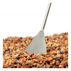 Spatola per sabbia soil sand flattener in acciaio da 27 cm