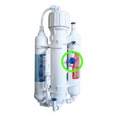 Aquili Impianto osmosi per acquario con 3 stadi da 290 l con valvola lavaggio