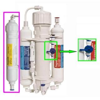 Aquili Impianto osmosi con 4 stadi filtro anti NO3 PO4 SiO2 da 290 l con flushing valve