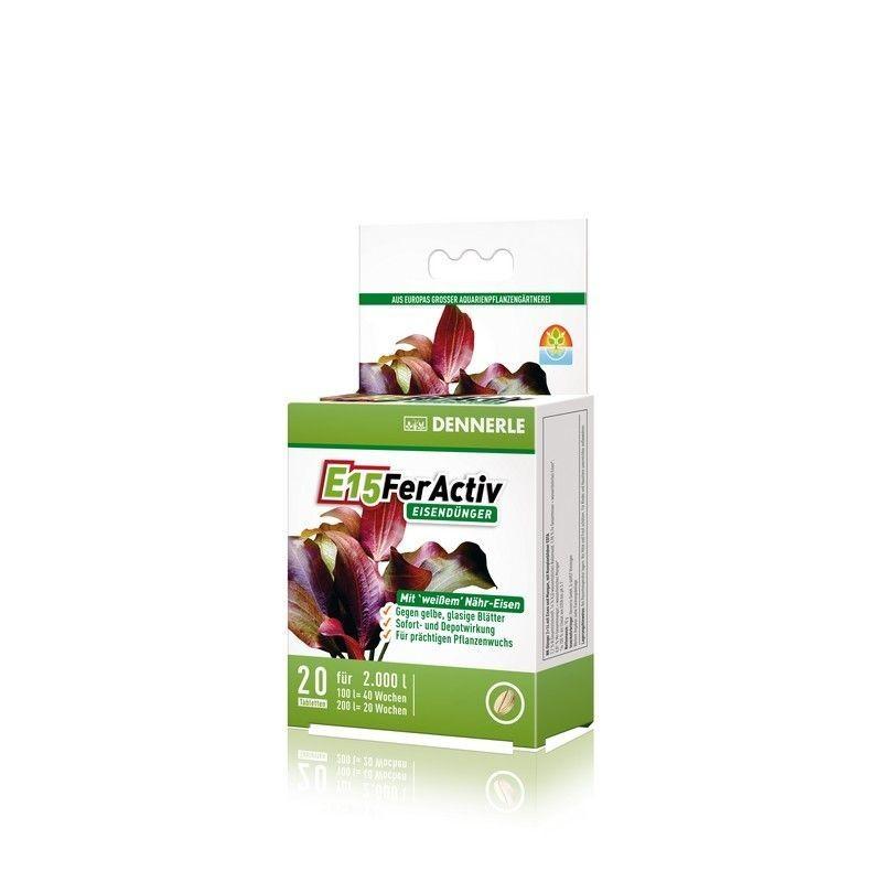 Dennerle 4549 E15 Feractiv Fertilizzante a base di Ferro per acquario 20 compresse
