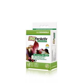 Dennerle 4550 E15 Feractiv Fertilizzante a base di Ferro per acquario 40 compresse
