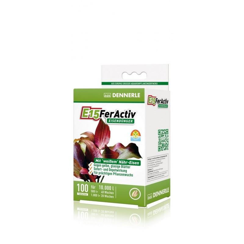 Dennerle 4551 E15 Feractiv Fertilizzante a base di Ferro per acquario 100 compresse
