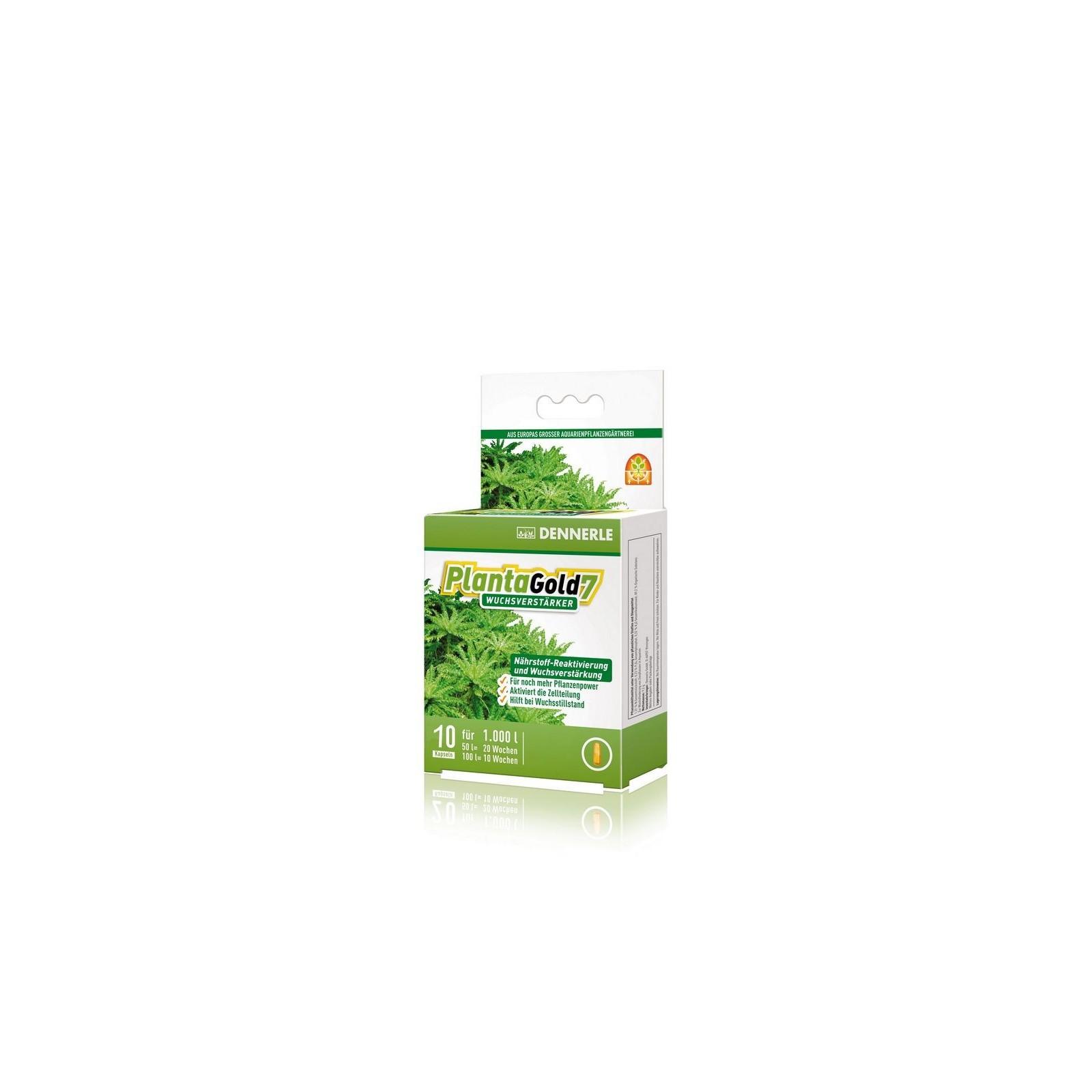 Dennerle 4552 Planta Gold7 stimola la crescita delle piante in acquario 10 compresse