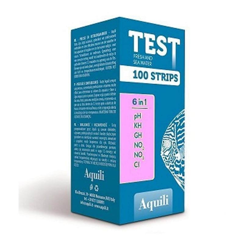 Aquili test per acquario 6 in 1 100 misurazioni