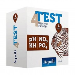 Aquili test per acquario 4 in 1 PH- KH - NO3 - PO4