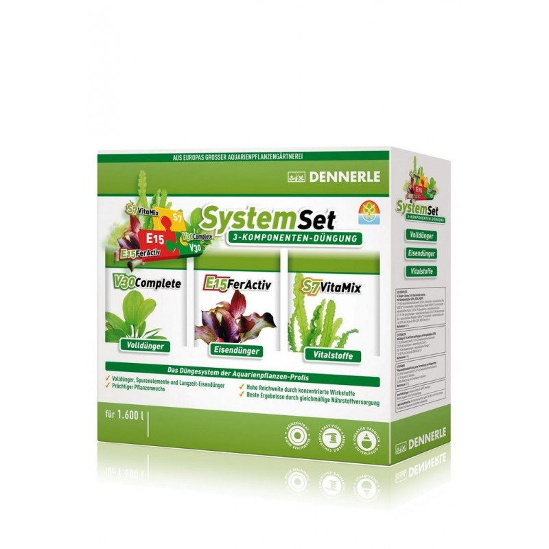 Dennerle 4578 Perfect Plant System Kit fertilizzanti E15-V30-S7vitamix 50ml per 1600Lt fertilizzante per acquario