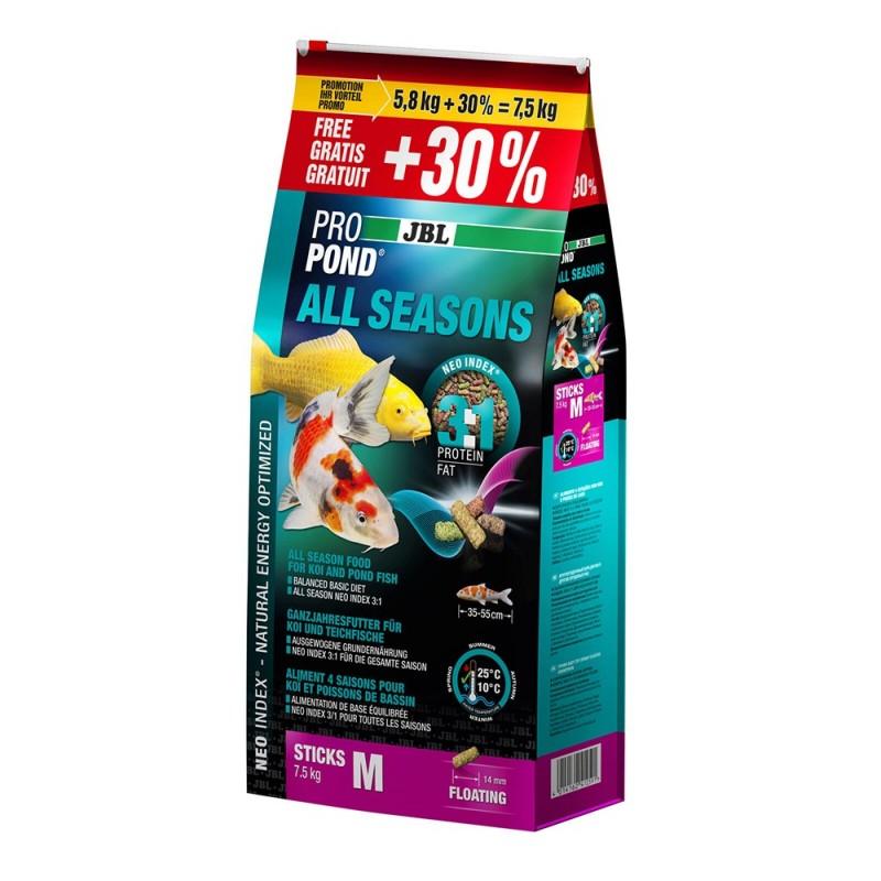 JBL ProPond All Seasons Mangime per carpe Koi e pesci da laghetto quattro stagioni