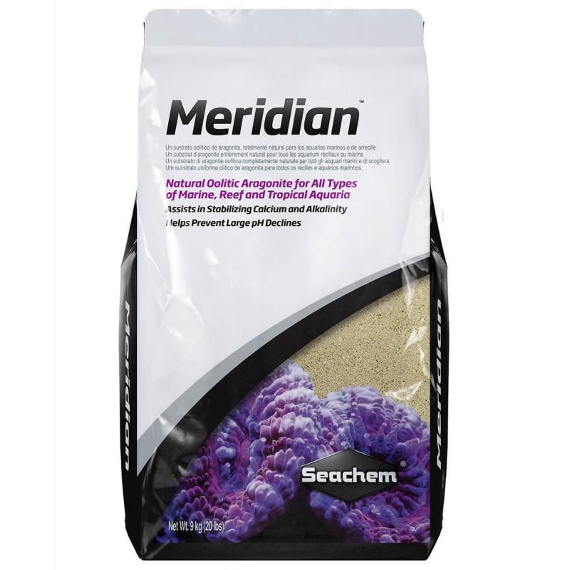 Seachem Meridian Aragonite naturale olitica acquari marini