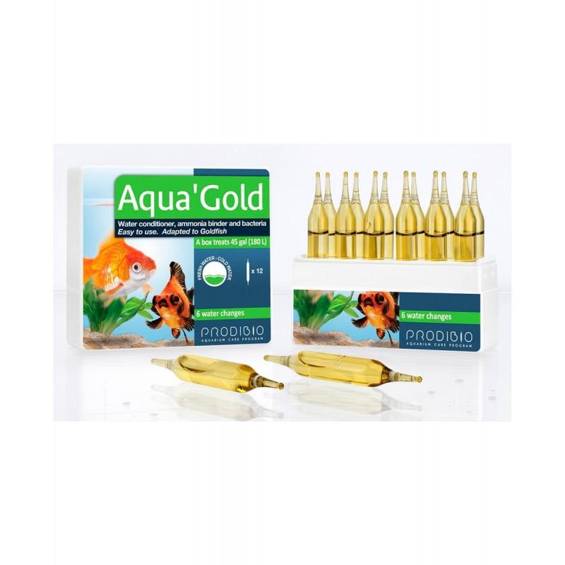 Prodibio Aqua'Gold biocondizionatore e batteri per pesi rossi