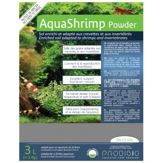 Prodibio AquaShrimp Powder fondo specifico per caridine 3 lt