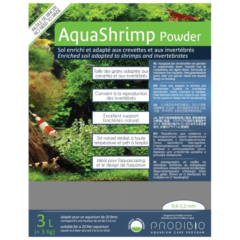 Prodibio AquaShrimp Powder fondo specifico per caridine 3 lt
