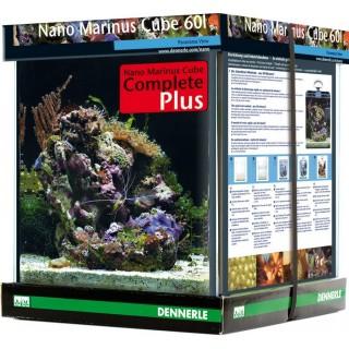 Dennerle 5615 Nano Marinus Cube 60 Complete Plus cm38x38x43h 60 litri mini acquario panoramico completamente accessoriato per us