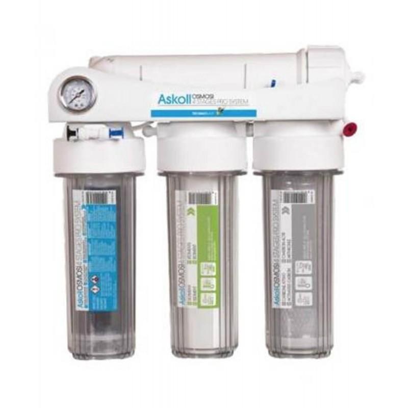 Askoll impianto Osmosi 4 stages Pro system 4 stadi a bicchiere fino a 280 litri al giorno